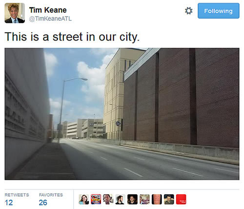 Courtland Street Tweet