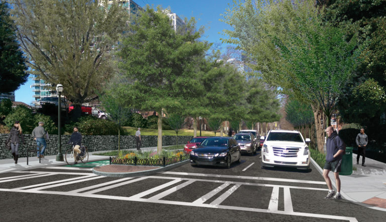 Juniper Street bike lane