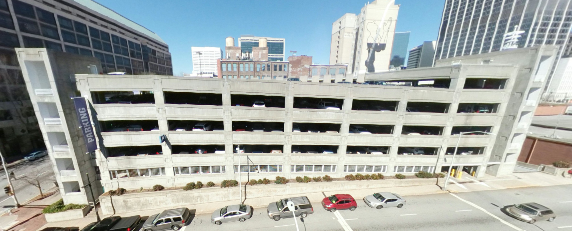 Parking deck at Underground Atlanta